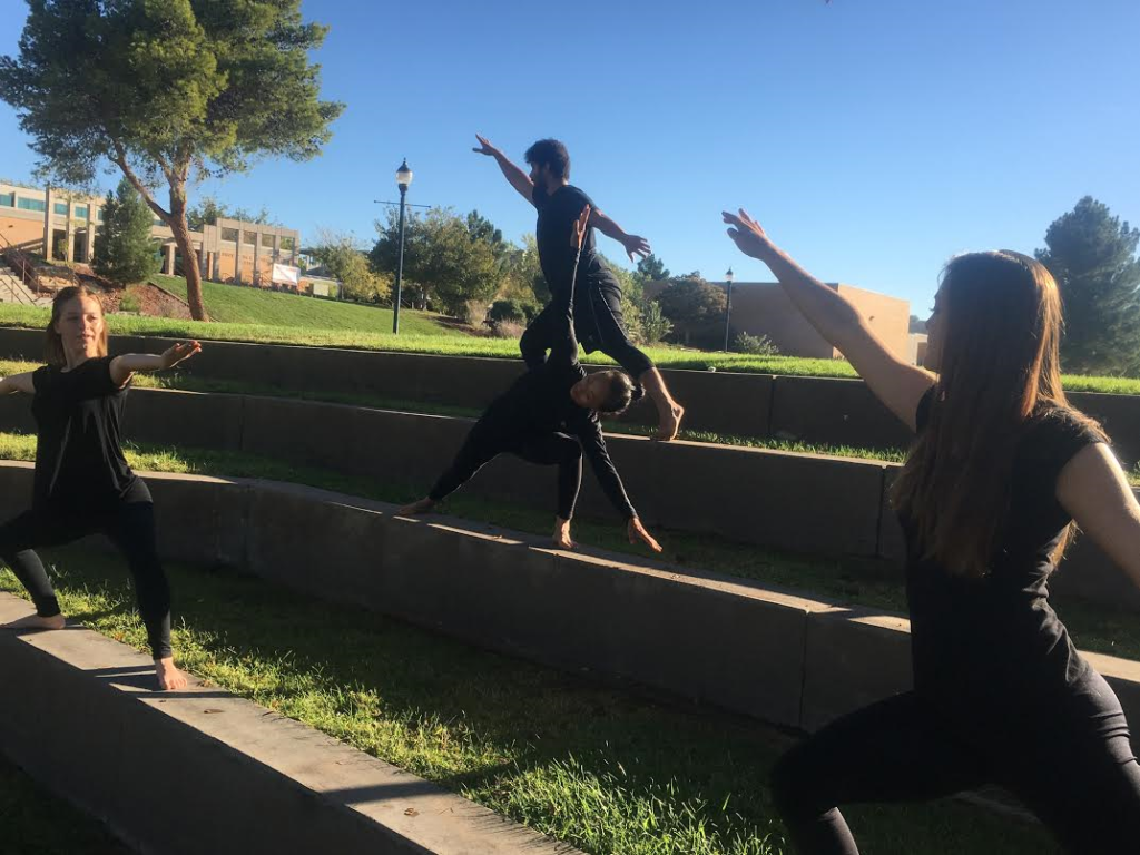 Members of the Dixie State University Modern Dance and Improvisation Club hone their dance improve skills on the DSU campus, St. George, Utah, Oct. 13, 2016 | Photo by Hollie Reina, St. George News