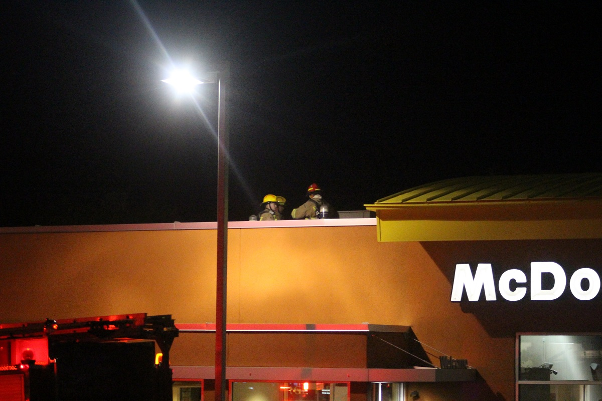 Firefighters found the overheated air conditioning system that was responsible for filling the McDonald's restaurant with smoke, St. George, Utah, Oct. 1, 2016 | Photo by Cody Blowers, St. George News