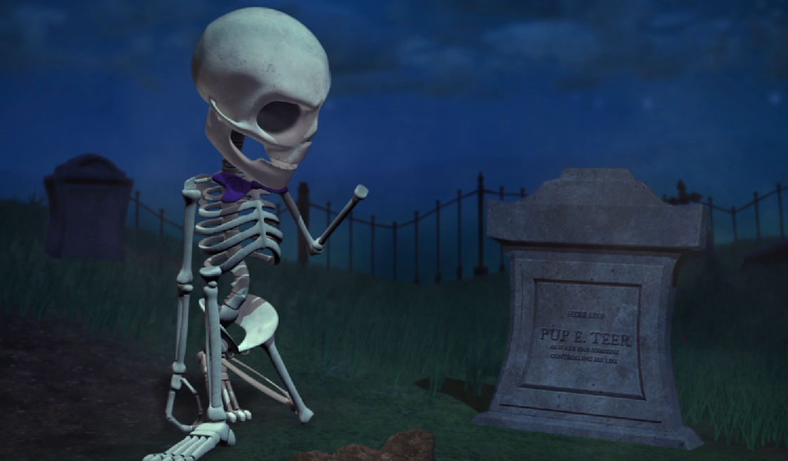 Charming skeleton in the animated short film by Chris Bringhurst, October 28, 2016 | Image courtesy of Chris Bringhurst, St. George News