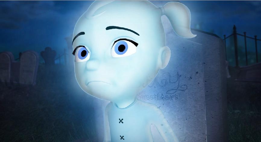 Little ghost in the animated short film by Chris Bringhurst, October 28, 2016   Image courtesy of Chris Bringhurst, St. George News