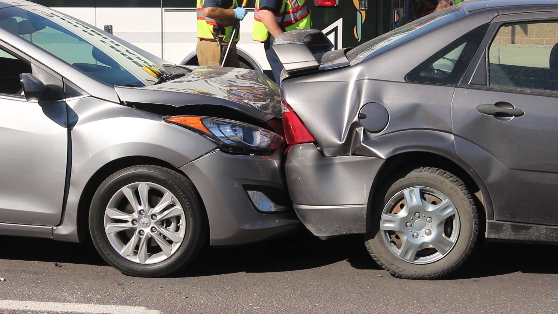 A 6-car collision sent a person to the hospital Tuesday. St. George, Utah, October 11, 2016 | Photo by Mike Cole, St. George News