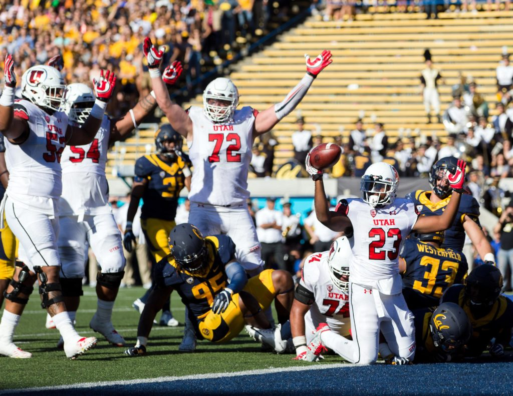 Utah at Cal, Berkeley, Calif., Oct. 1, 2016 | Photo courtesy Utah Athletics