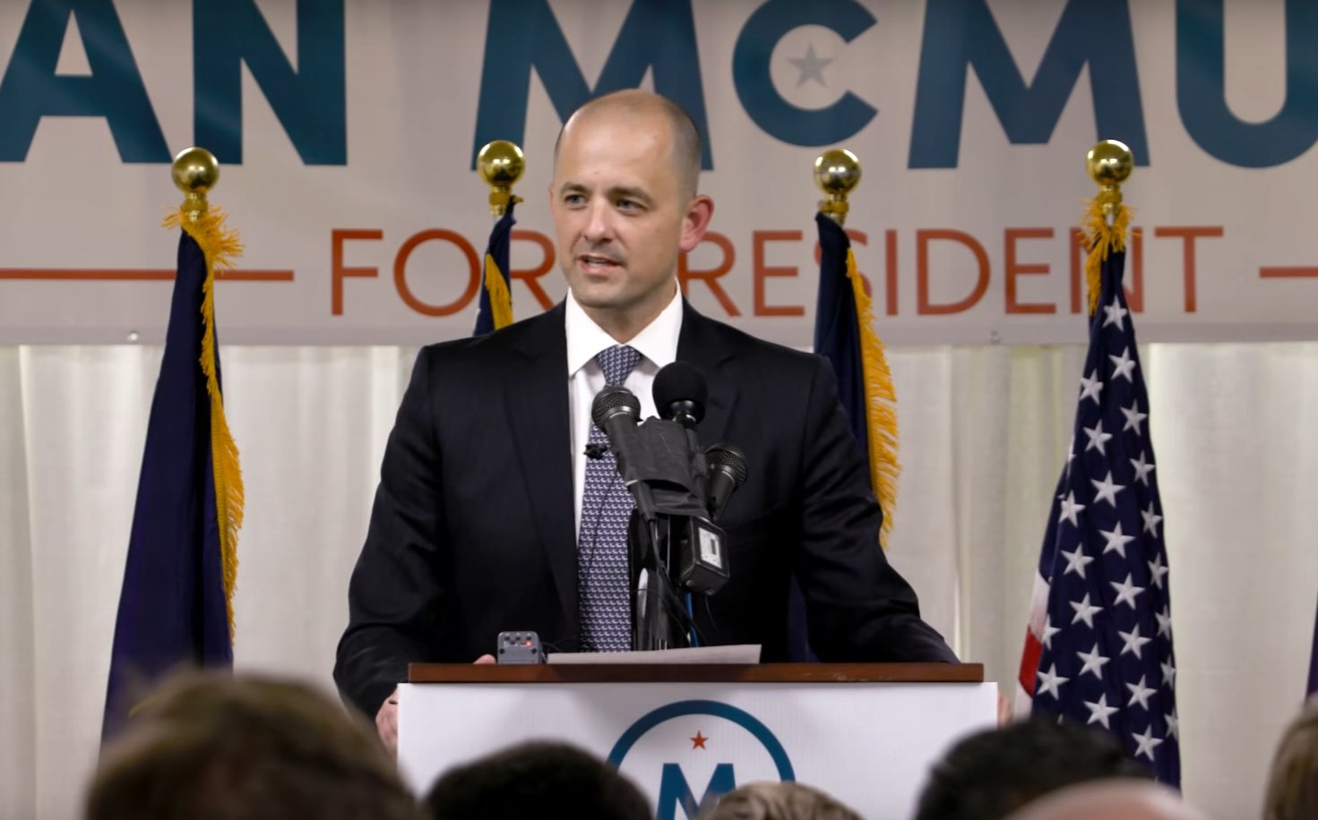 Evan McMullin anounding his run for president as an independent candidate, Salt Lake City, Utah, Aug. 8, 2016 | Photo courtesy of YouTube, St. George News