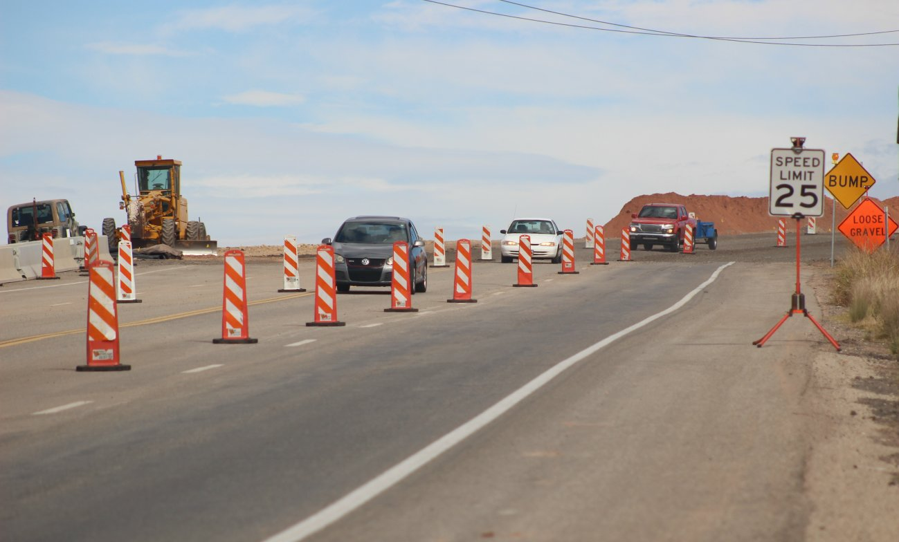 Telegraph Street between Washington and Highland parkways reopened after a month-long closure caused by a 6-inch drop in the roadway connecting to a slow-moving slide. Repair work on Telegraph Street is expceted to conclude in early 2017, Washington City, Utah, 2016 | Photo by Mori Kessler, St. George News
