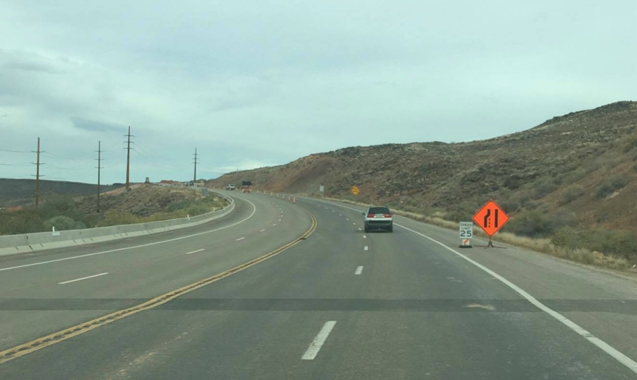 Telegraph Street between Washington and Highland parkways reopened after a month-long closure caused by a 6-inch drop in the roadway that is connected to a slow-moving slide. Repair work on Telegraph Street is expected to conclude in early 2017, Washington City, Utah, 2016   Photo by Mori Kessler, St. George News