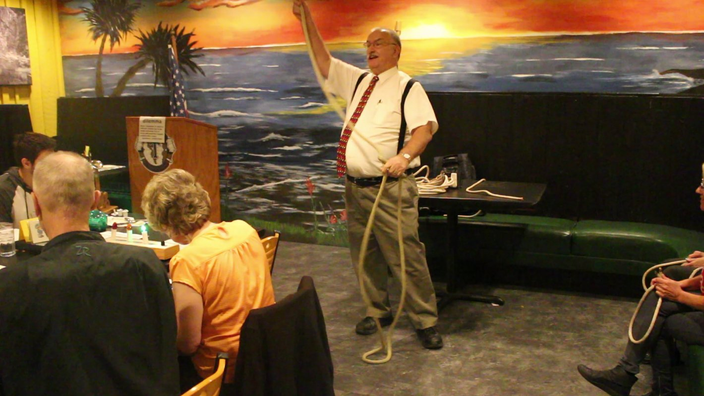 Randy Patterson speaking at a meeting of the Dixie Tub Thumpers Toastmasters club, St. George, Utah, Oct. 31, 2016 | Photo by Mike Cole, St. George News