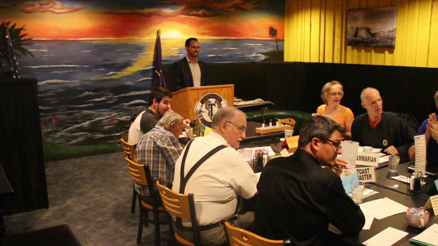 At a meeting of the Dixie Tub Thumpers Toastmasters Club, St. George, Utah, Oct. 31, 2016   Photo by Mike Cole, St. George News
