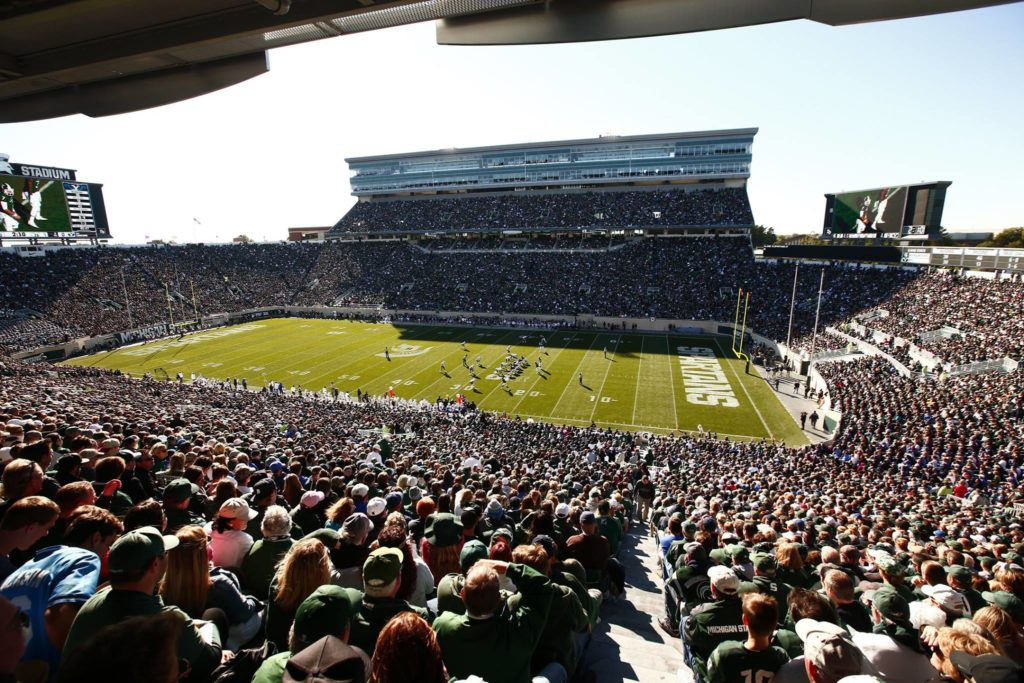 BYU at Michigan State, East Lansing, Mich., Oct. 8, 2016 | Photo by BYU Photo