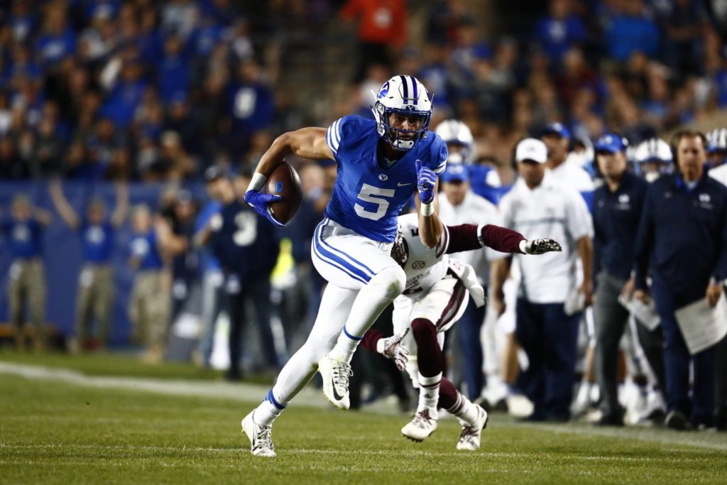 Nick Kurtz, BYU vs. Mississippi State, Provo, Utah, Oct. 15, 2016 | Photo by BYU Photo