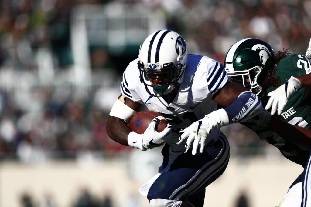 Jamaal Williams, BYU at Michigan State, East Lansing, Mich., Oct. 8, 2016 | Photo by BYU Photo