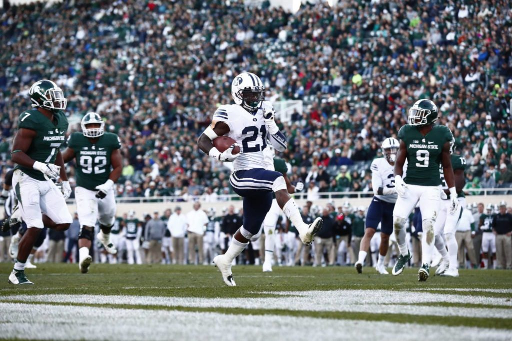 Jamaal Williams and the Cougars ran all over Michigan State | Photo by BYU Photo