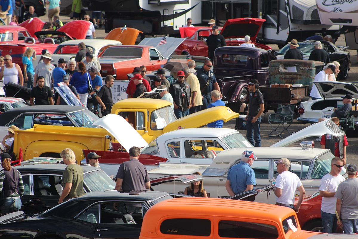 Hundreds of people attend the First Responders Appreciation Car Show and carnival showcasing 130 classic cars at 150 S. 1160 East in St. George Saturday, Oct. 29, 2016 | Photo by Cody Blowers, St. George News
