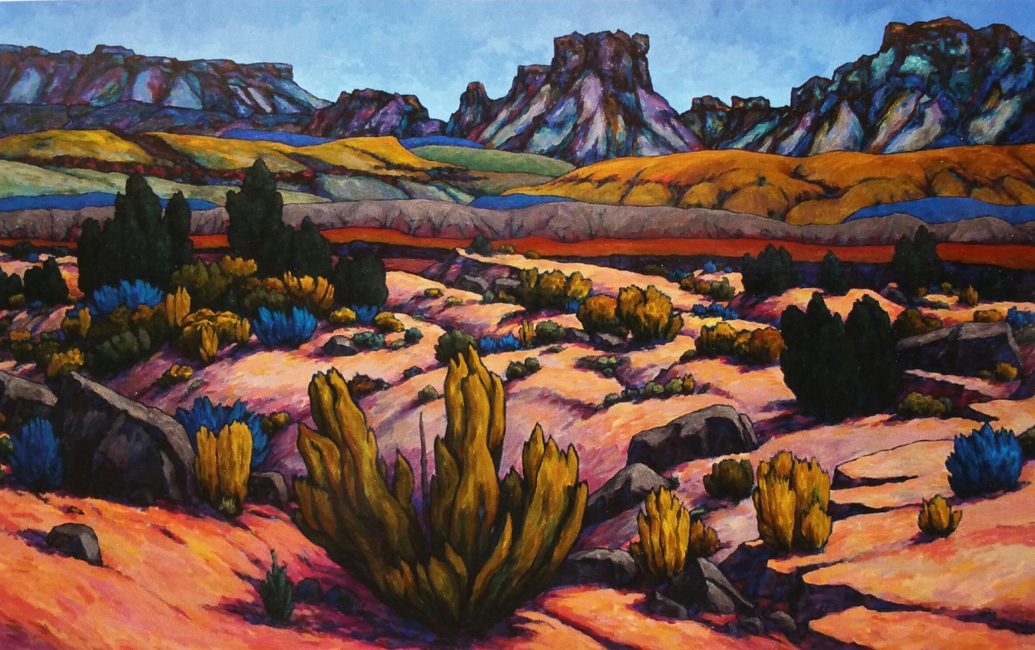 This photo shows the work of artist Royden Card who will be one of the featured artists during the Arts to Zion 2017 studio tour. The tour invites the public to see artists at work in their home studios, galleries, museums and in plein air and will be held Jan. 12-15, 2017, in Southern Utah | Photo courtesy of Arts to Zion, St. George News