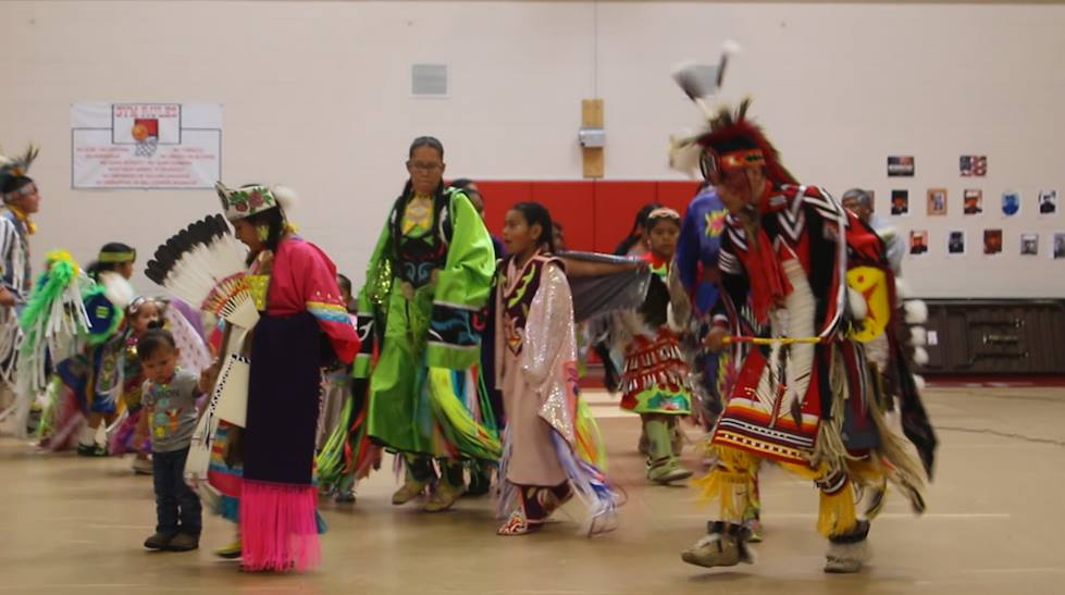Native American youth perform for Native American Heritage Month at the Paiute tribal headquarters in Cedar City, Utah, Nov. 10, 2016 | Photo by Mike Cole, St. George News