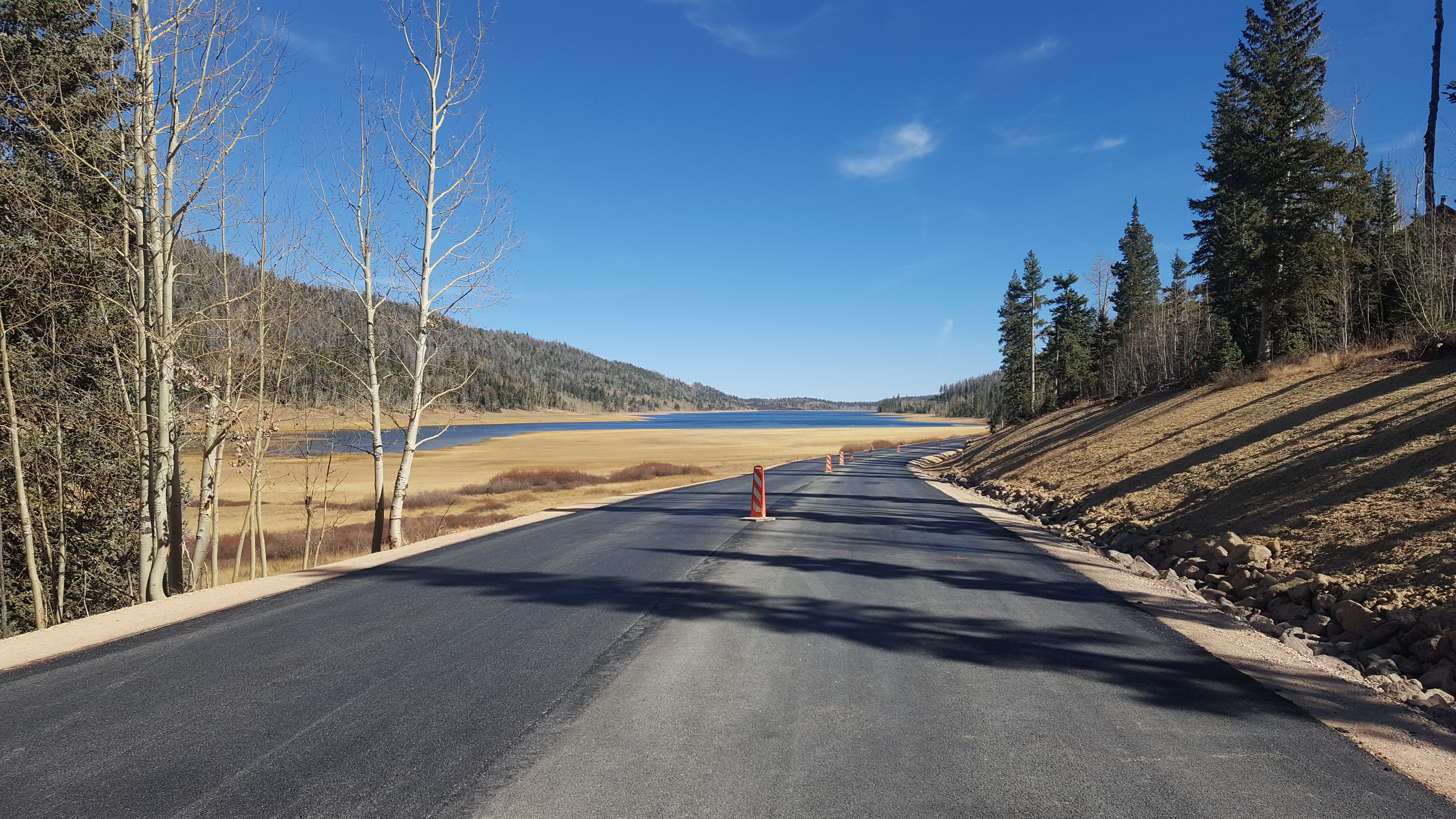 Navajo Lake Road during construction and repaving project, summer and fall 2016. The road will close Dec. 7 for the winter season until spring 2017 or following when the work will be completed. Dixie National Forest, Utah, date not specified | Photo courtesy of Dixie National Forest, St. George News / Cedar City News
