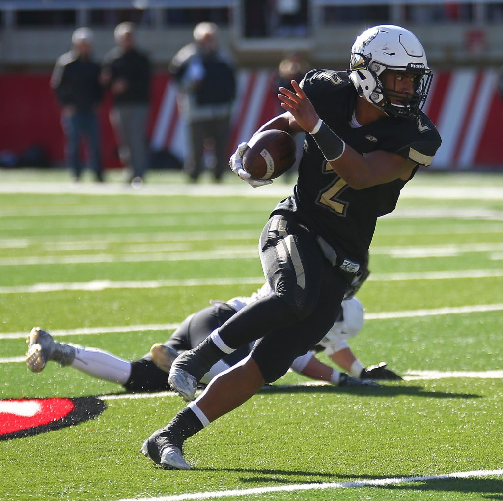 Desert Hills' Nephi Sewell (2), Desert Hills vs. Pine View, 3AA State Championship, Football, Salt Lake City, Utah, Nov. 18, 2016, | Photo by Robert Hoppie, ASPpix.com, St. George News