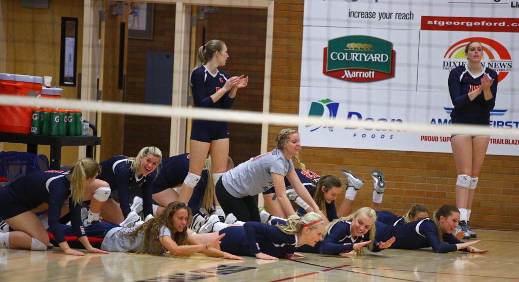 Dixie State University vs. Point Loma University, Volleyball,St. George, Utah, Nov. 19, 2016,   Photo by Robert Hoppie, ASPpix.com, St. George News