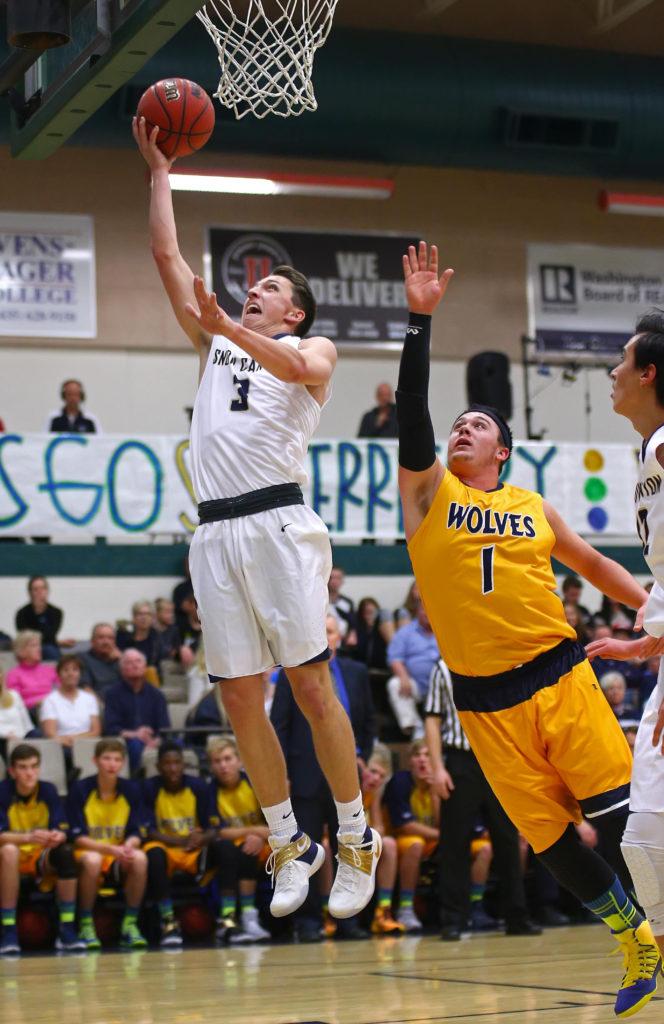 Snow Canyon's Braden Baker (3), Snow Canyon vs. Enterprise, Boy's Basketball, St. George, Utah, Nov. 30, 2016, | Photo by Robert Hoppie, ASPpix.com, St. George News