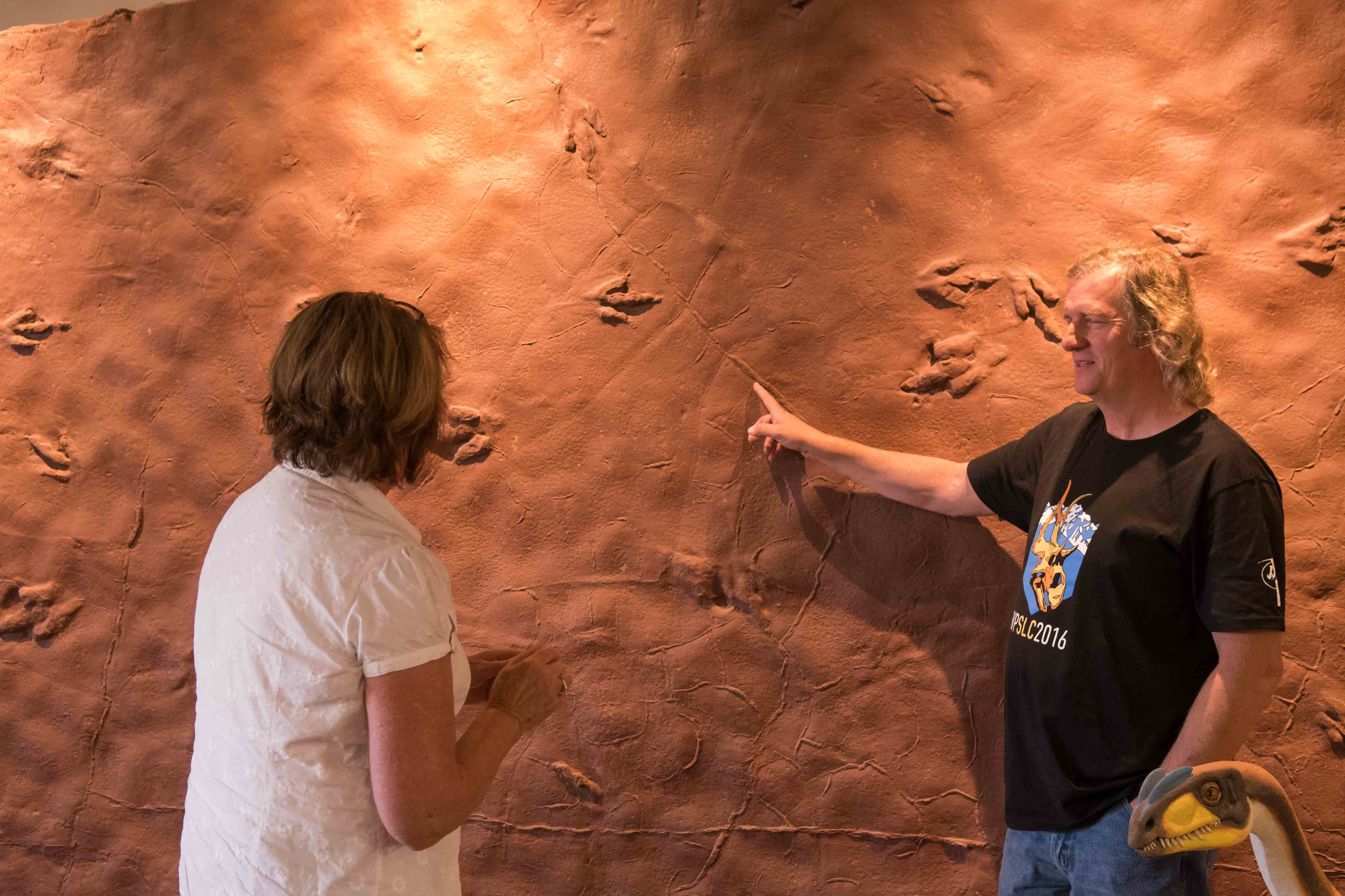 Andrew Milner, paleontologist and curator, Dinosaur Discovery Site, St. George, Utah, Oct. 31, 2016 | Photo by Jim Lillywhite, St. George News