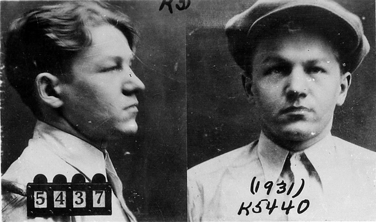 "Mugshot of Lester Gills, AKA ""Baby Face"" Nelson, circa 1931 