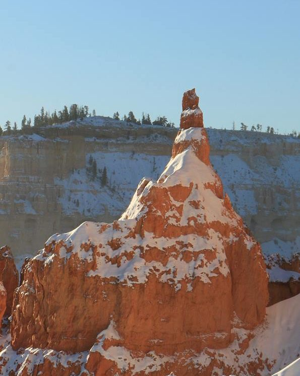 Frost-wedging caused the iconic Sentinel hoodoo to brake and fall from its base in Bryce Canyon National Park, Utah, Nov. 29, 2016 | Photo courtesy of the National Park Service, St. George News
