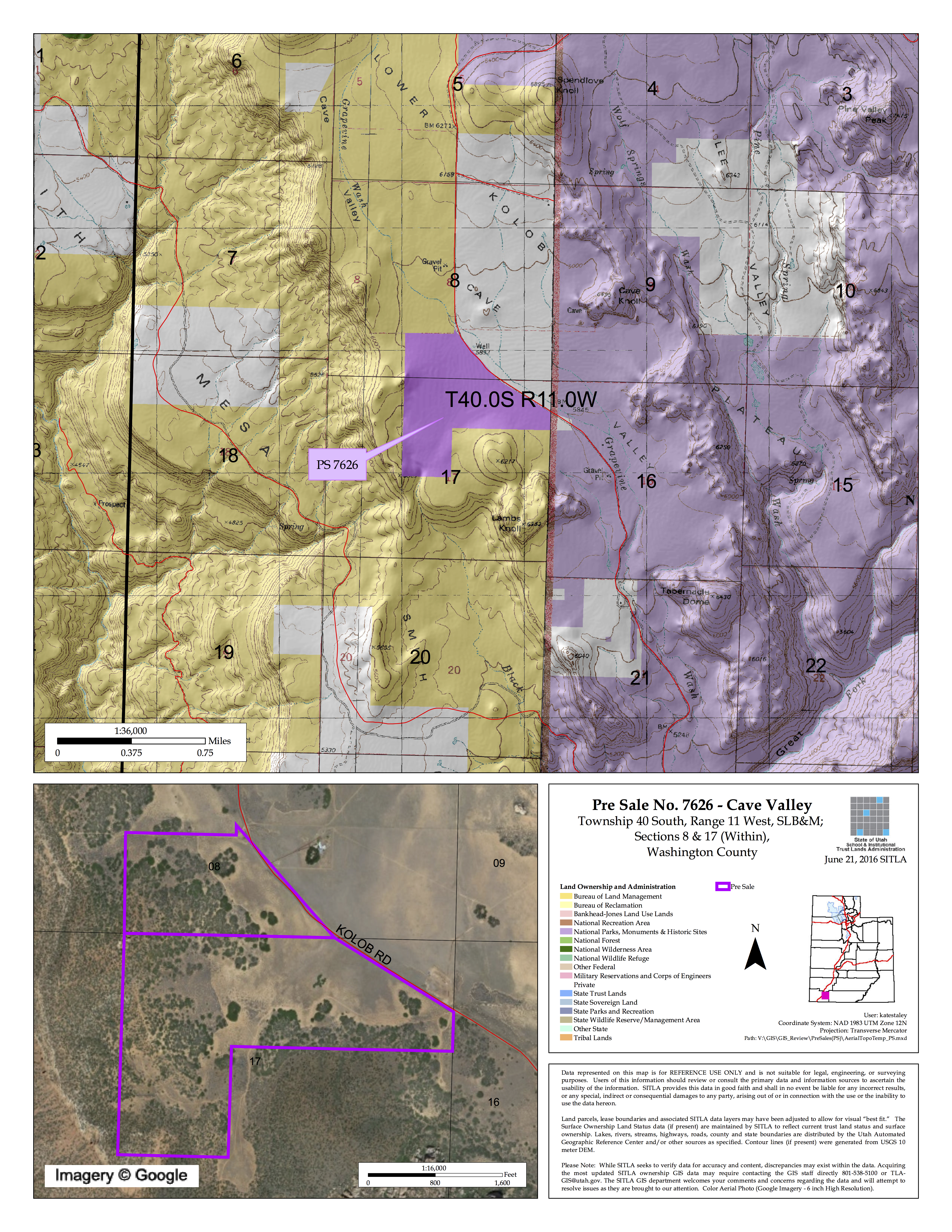 Map courtesy of State Institutional Trust Lands Administration, St. George News