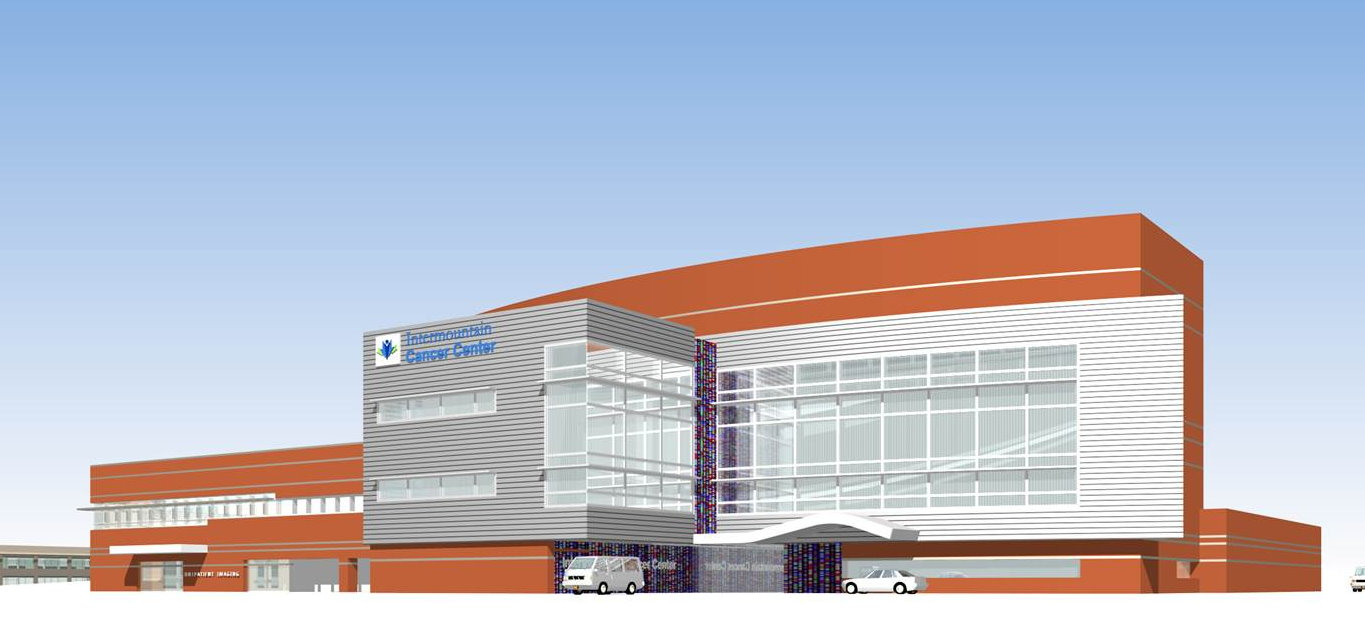 A rendering of the Intermountain Cancer Center treatment and research facility being built as a part of Dixie Regional Medical Center's $300 million expansion.   Image courtesy of HDR Architecture, St. George News