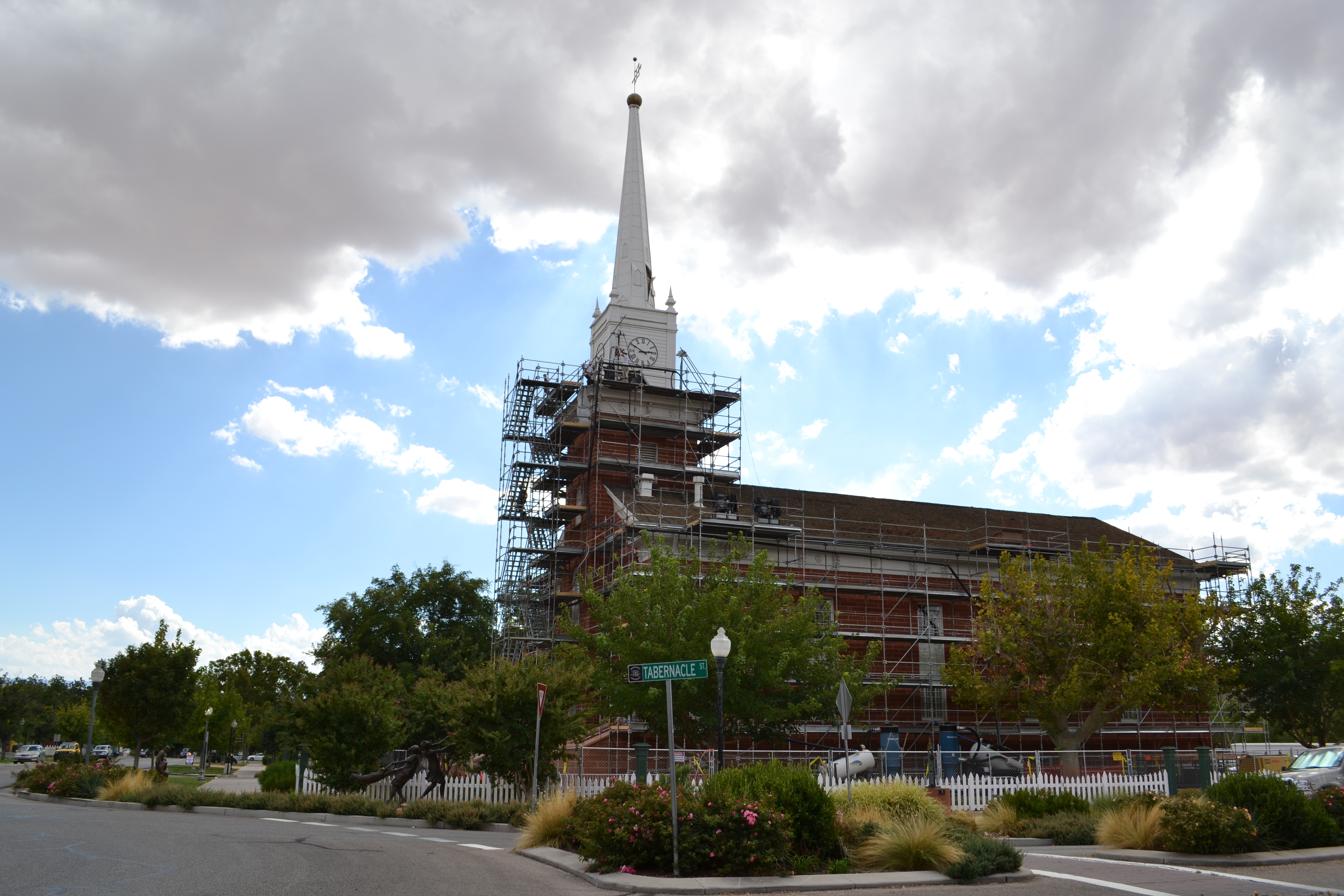 The Church of Jesus Christ of Latter-day Saint's historic Tabernacle is under renovation for structural upgrades, St. George, Utah, Sept. 22, 2016 | Photo by Joseph Witham, St. George News