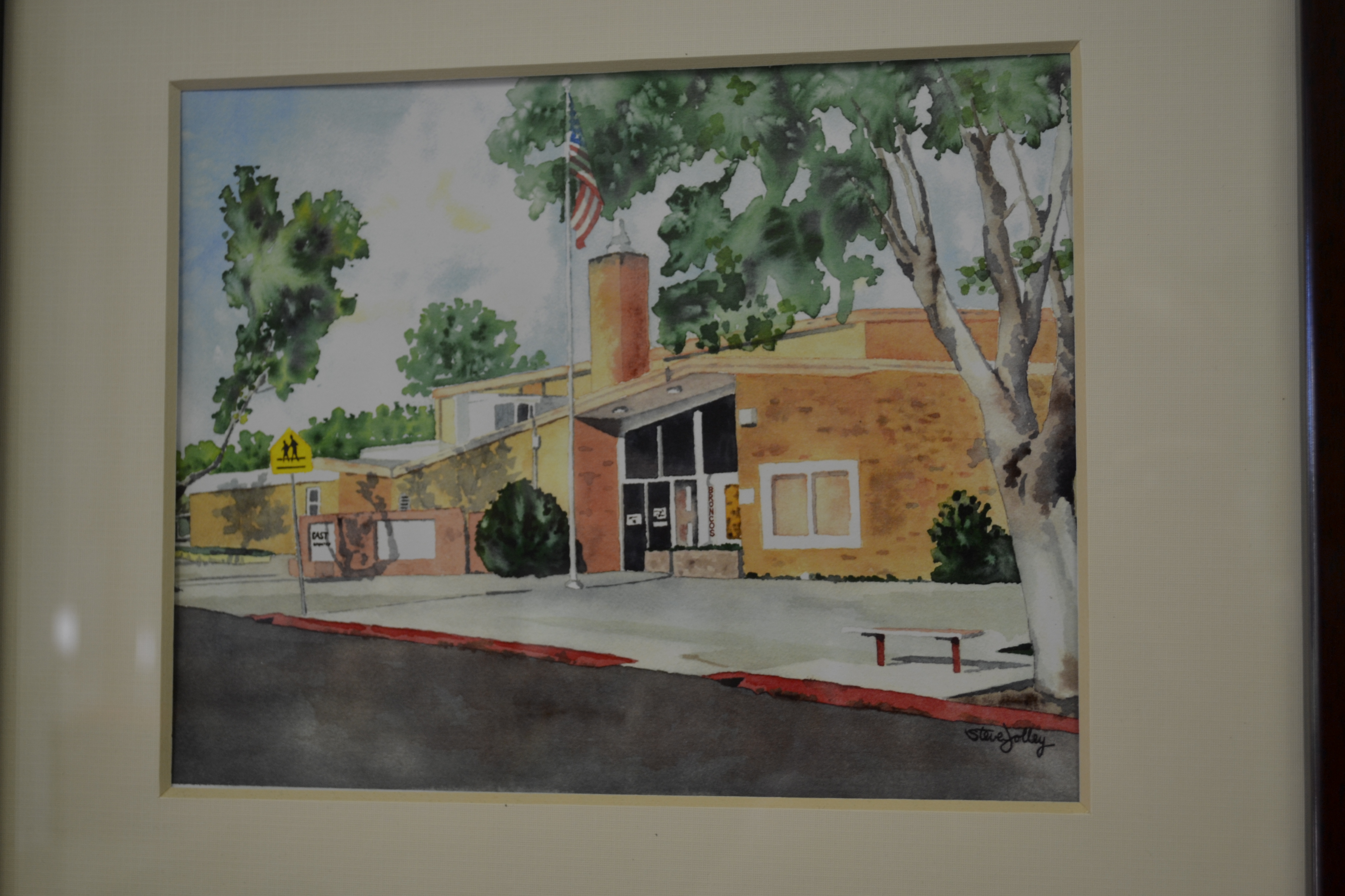A watercolor of East Elementary School, St. George, Utah, Nov. 7, 2016   Photo by Joseph Witham, St. George News