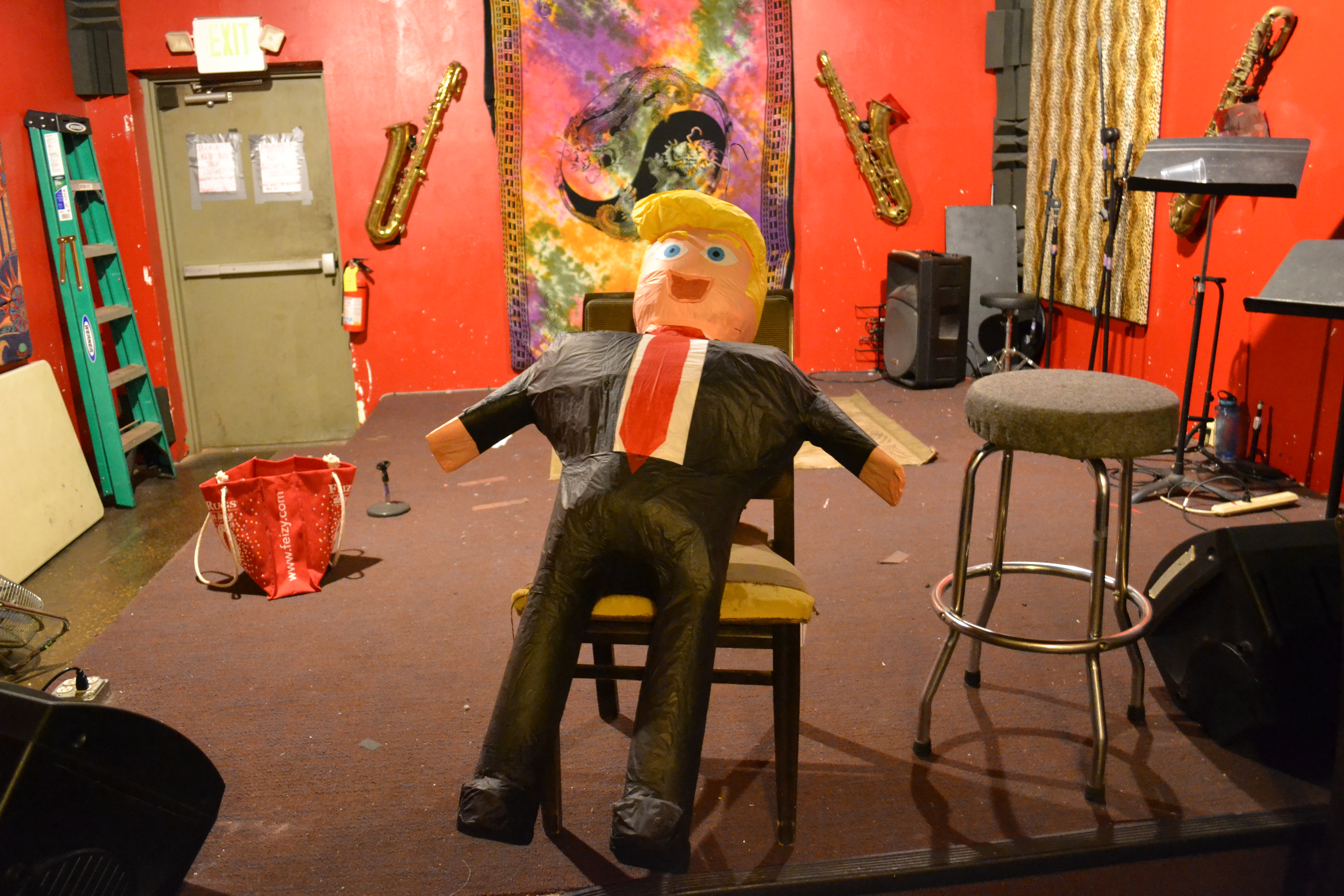 A Donald Trump Pinata awaits as a raffle award at a party for Washington County Democrats, St. George, Utah, Nov. 8, 2016 | Photo by Joseph Witham, St. George News