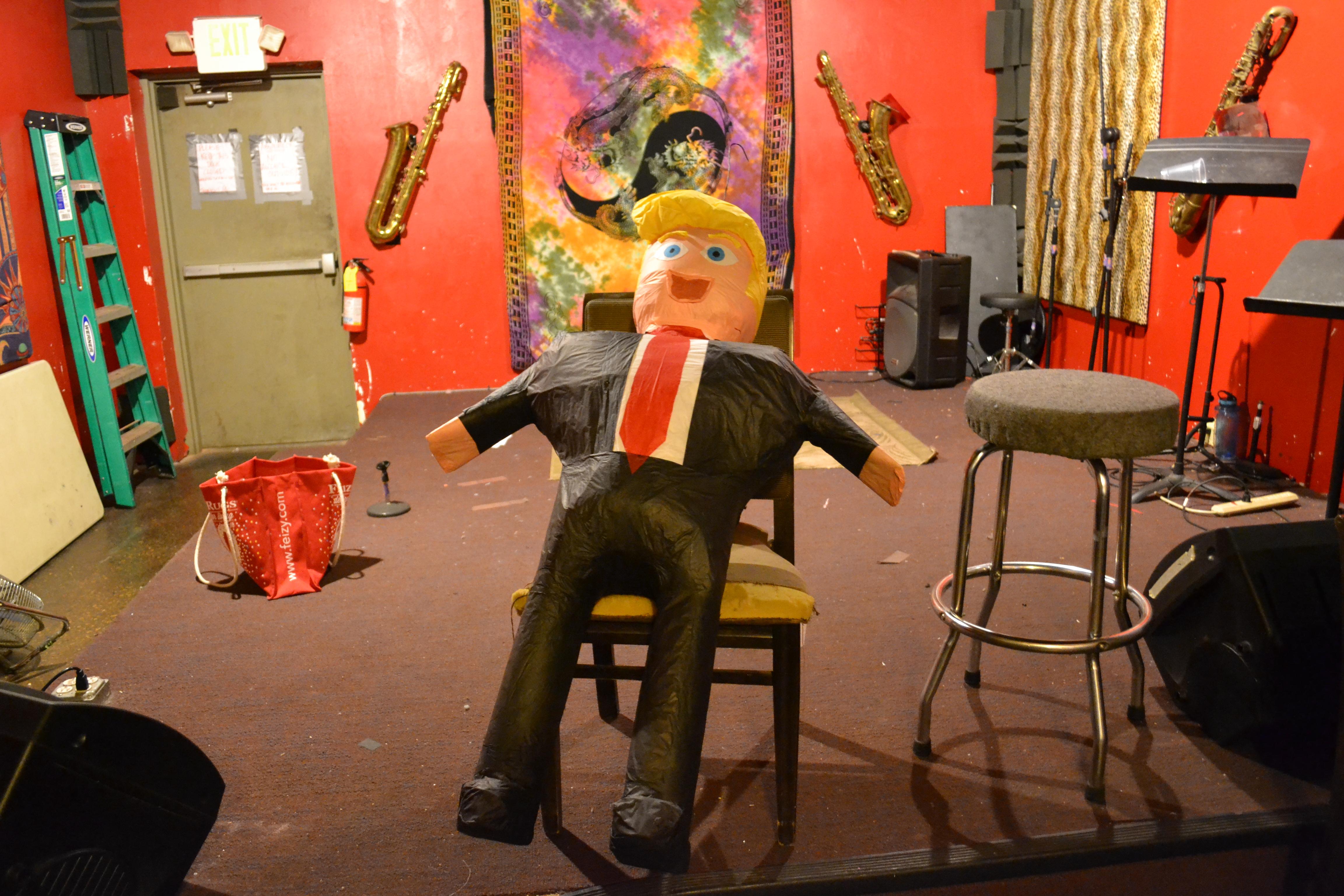A Donald Trump Pinata awaits as a raffle award at a party for Washington County Democrats, St. George, Utah, Nov. 8, 2016 | Photo by Joseph Witham, St. George News