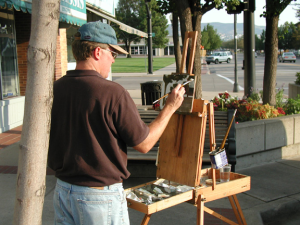 Artist David Koch at work in Southern Utah, date not specified. Koch will be one of the featured artists during the Arts to Zion 2017 studio tour, which invites the public to see artists at work in their home studios, galleries, museums and in plein air. The 2017 tour will be held Jan. 12-15, 2017, in Southern Utah | Photo courtesy of Arts to Zion, St. George News