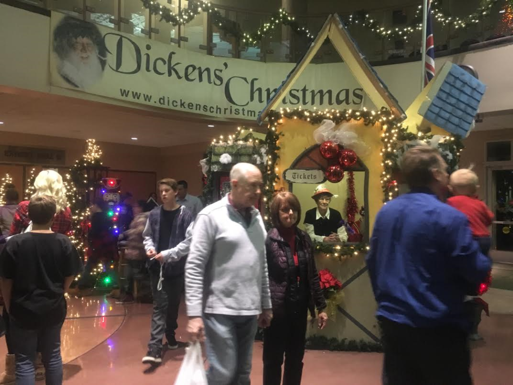 visitors attend the dickens christmas festival held in the - Dickens Christmas Festival