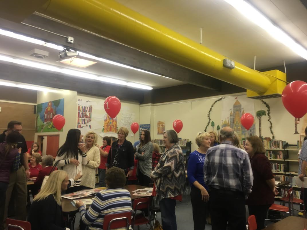 Former East Elementary teachers and students mingle in the school's library during a community open house designed to say goodbye the school that opened in 1955, St. George, Utah, Nov. 18, 2016   Photo by Hollie Reina, St. George News