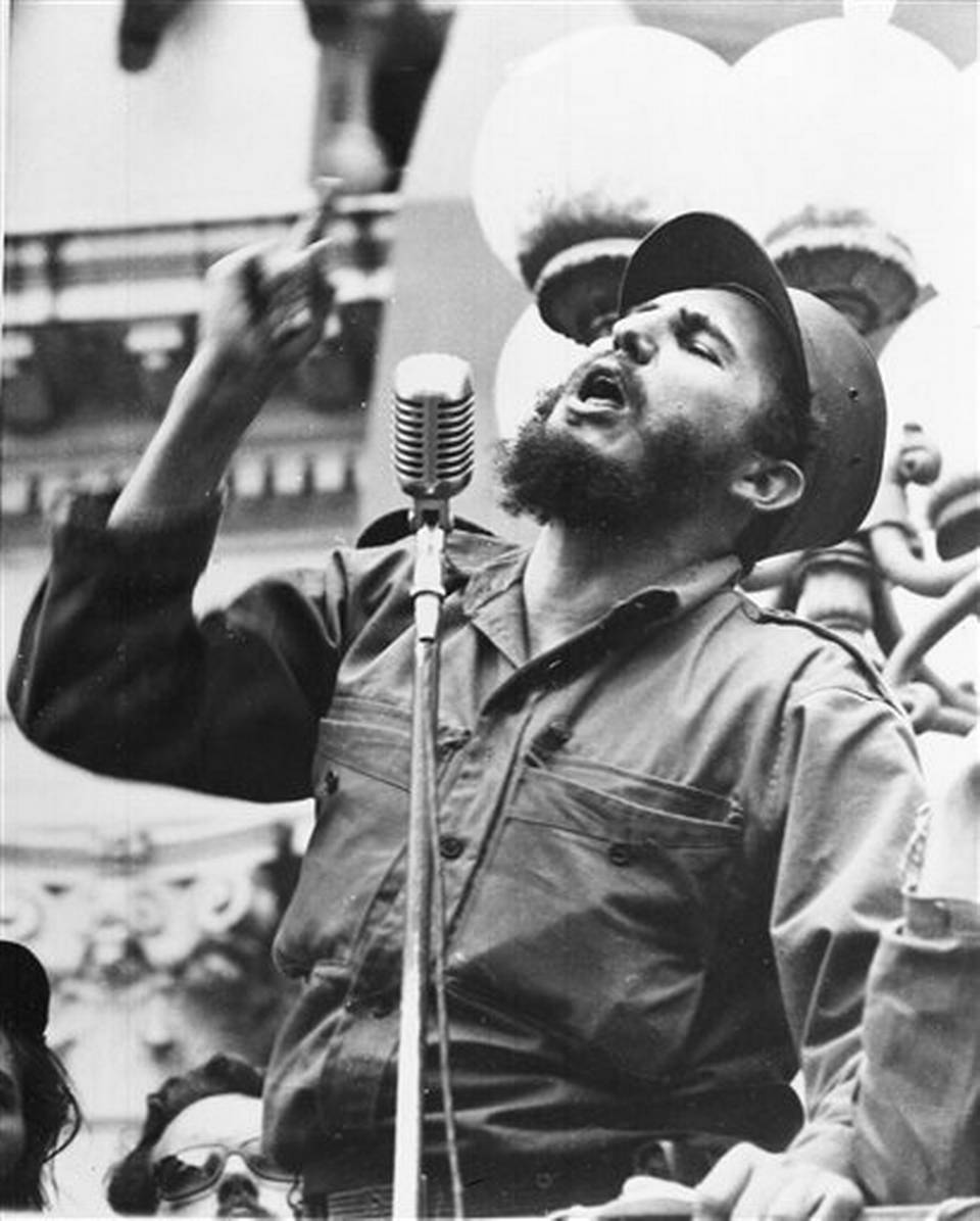 In this Feb. 6, 1959 file photo, Cuba's leader Fidel Castro speaks to a crowd during his triumphant march to Havana after the fall of the Batista regime. Former President Fidel Castro, who led a rebel army to improbable victory in Cuba, embraced Soviet-style communism and defied the power of 10 U.S. presidents during his half century rule, has died at age 90. The bearded revolutionary, who survived a crippling U.S. trade embargo as well as dozens, possibly hundreds, of assassination plots, died eight years after ill health forced him to formally hand power over to his younger brother Raul, who announced his death late Friday, Nov. 25, 2016, on state television. | AP Photo/File, St. George News