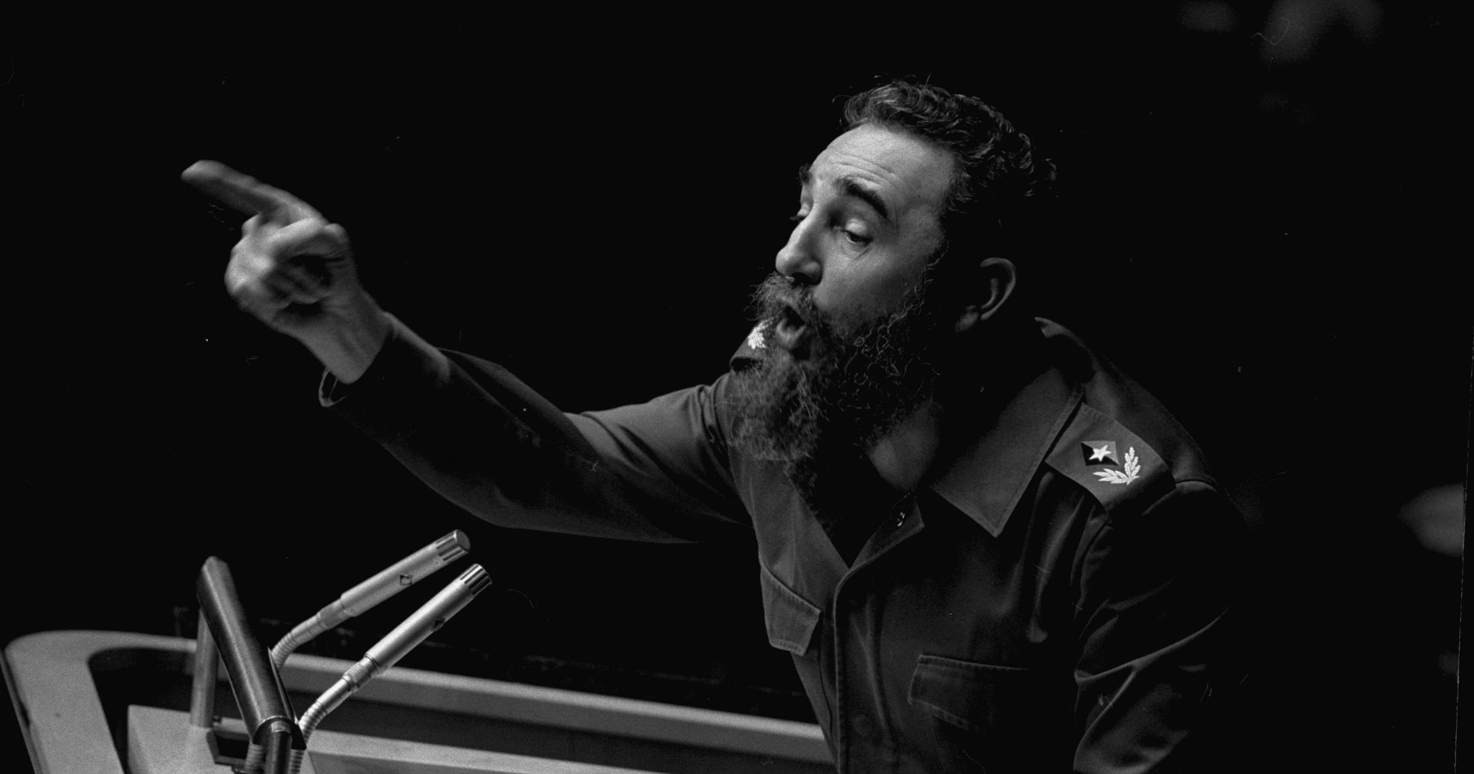 In this Oct. 12, 1979 file photo, Cuban President, Fidel Castro, points during his lengthy speech before the United Nations General Assembly, in New York. Cuban President Raul Castro has announced the death of his brother Fidel Castro at age 90 on Cuban state media on Friday, Nov. 25, 2016 | AP Photo/Marty Lederhandler, File, St. George News