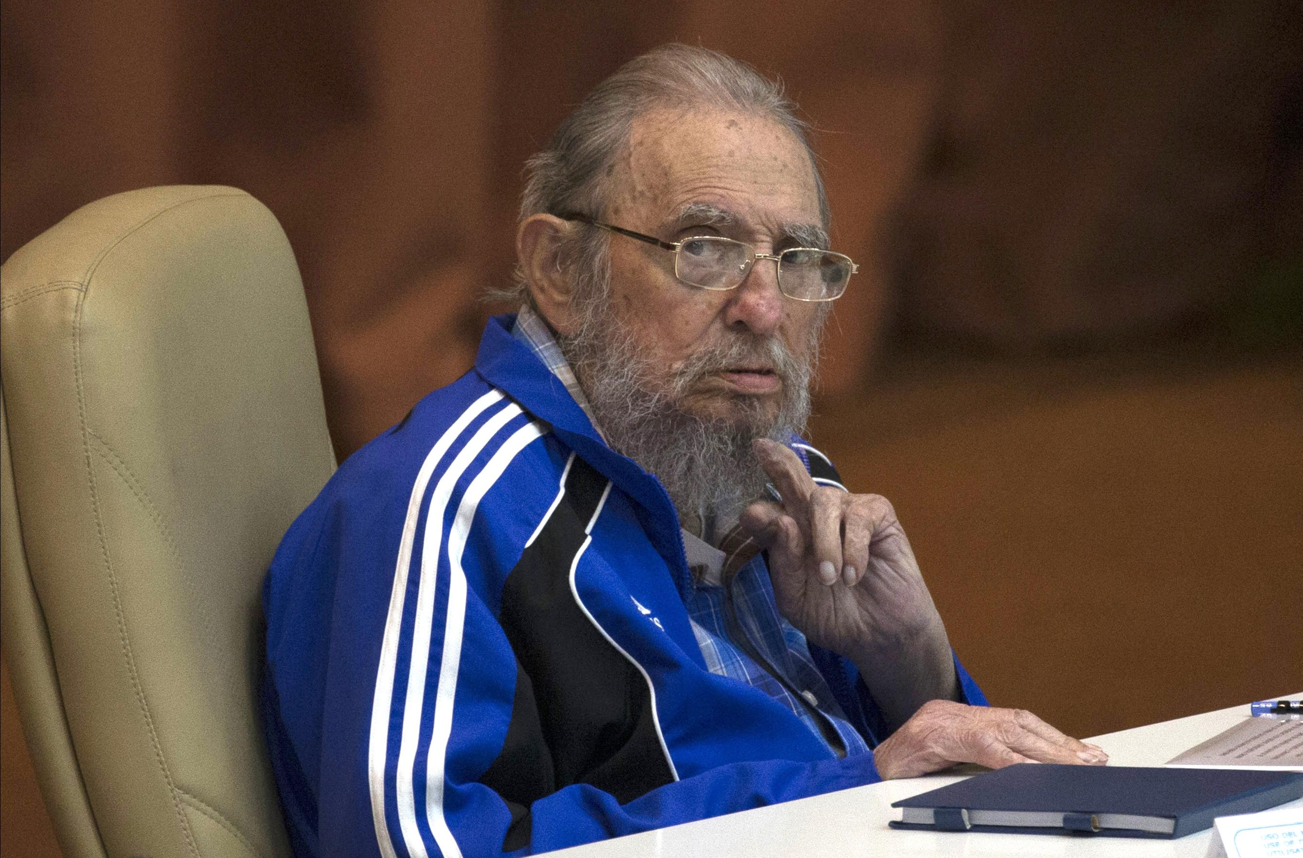 In this April 19, 2016 file photo, Fidel Castro attends the last day of the 7th Cuban Communist Party Congress in Havana, Cuba. Fidel Castro formally stepped down in 2008 after suffering gastrointestinal ailments and public appearances have been increasingly unusual in recent years. Cuban President Raul Castro has announced the death of his brother Fidel Castro at age 90 on Cuban state media on Friday, Nov. 25, 2016.  Ismael Francisco/Cuba debate via AP, St. George News