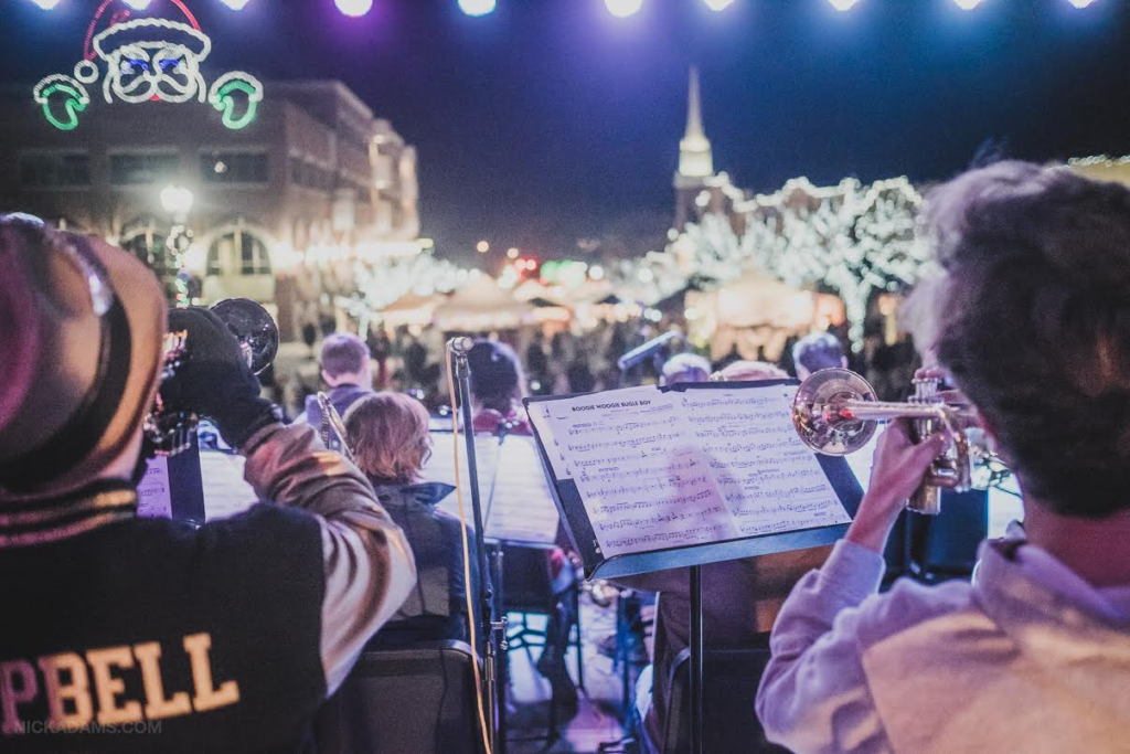 In this photo from 2015 crowds at George Streetfest are entertained with jazz music, St. George, Utah, circa December, 2015 | Photo courtesy of Emceesquare Media Inc., St. George News