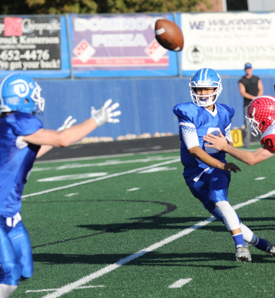 Dixie's Nate Mahi (3), Dixie vs Bear River, Football, St. George, Utah, Nov. 04, 2016, | Photo by Kevin Luthy, St. George News
