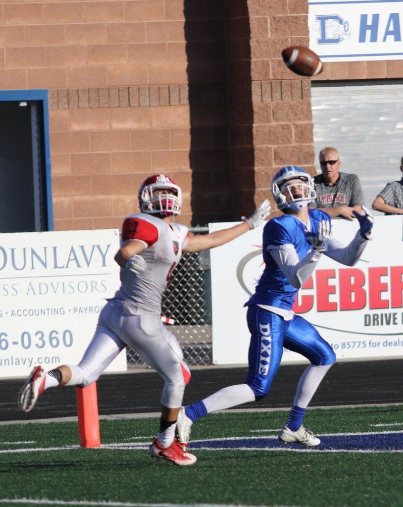 Dixie's Josh Topham (2), Dixie vs Bear River, Football, St. George, Utah, Nov. 04, 2016, | Photo by Kevin Luthy, St. George News