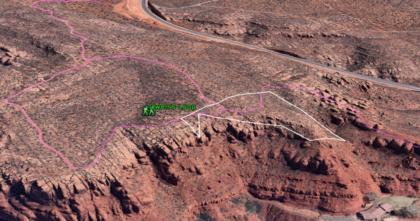 A parcel of land near downtown St. George which includes part of Owen's Loop Trail in the Red Cliffs Reserve is being offered by developer Kirk Willey as mitigation for a proposed road through desert tortoise habitat | Image courtesy of Kirk Willey, St. George News
