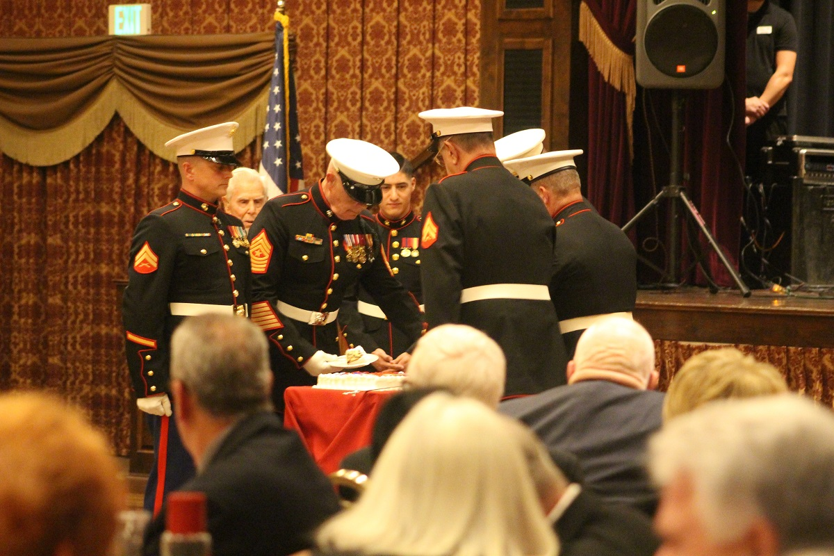 Marines presenting and cutting the cake at the 241st Marine Corp's Birthday Ball, an event that took place at the Sun River Ball Room on Saturday evening in St. George, Utah, Nov.12,2016 | Photo by Cody Blowers, St. George News