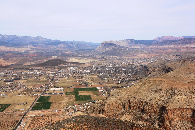 The top of Mollies Nipple looking toward Hurricane and LaVerkin, Utah Feb. 22, 2014 | Photo by Reuben Wadsworth, St. George News