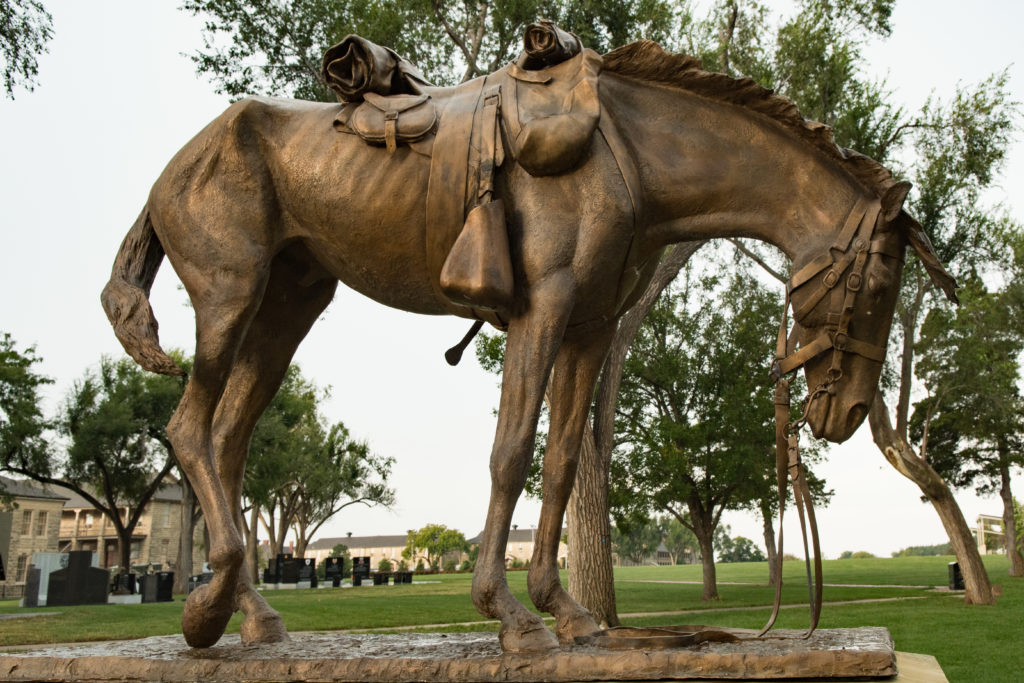 Civil War Horse statue dedicated to horses and mules that perished or were used in the Civil War, Ft. Riley, Kansas, Oct. 29, 2016 | Photo by Jim Lillywhite, St. George News