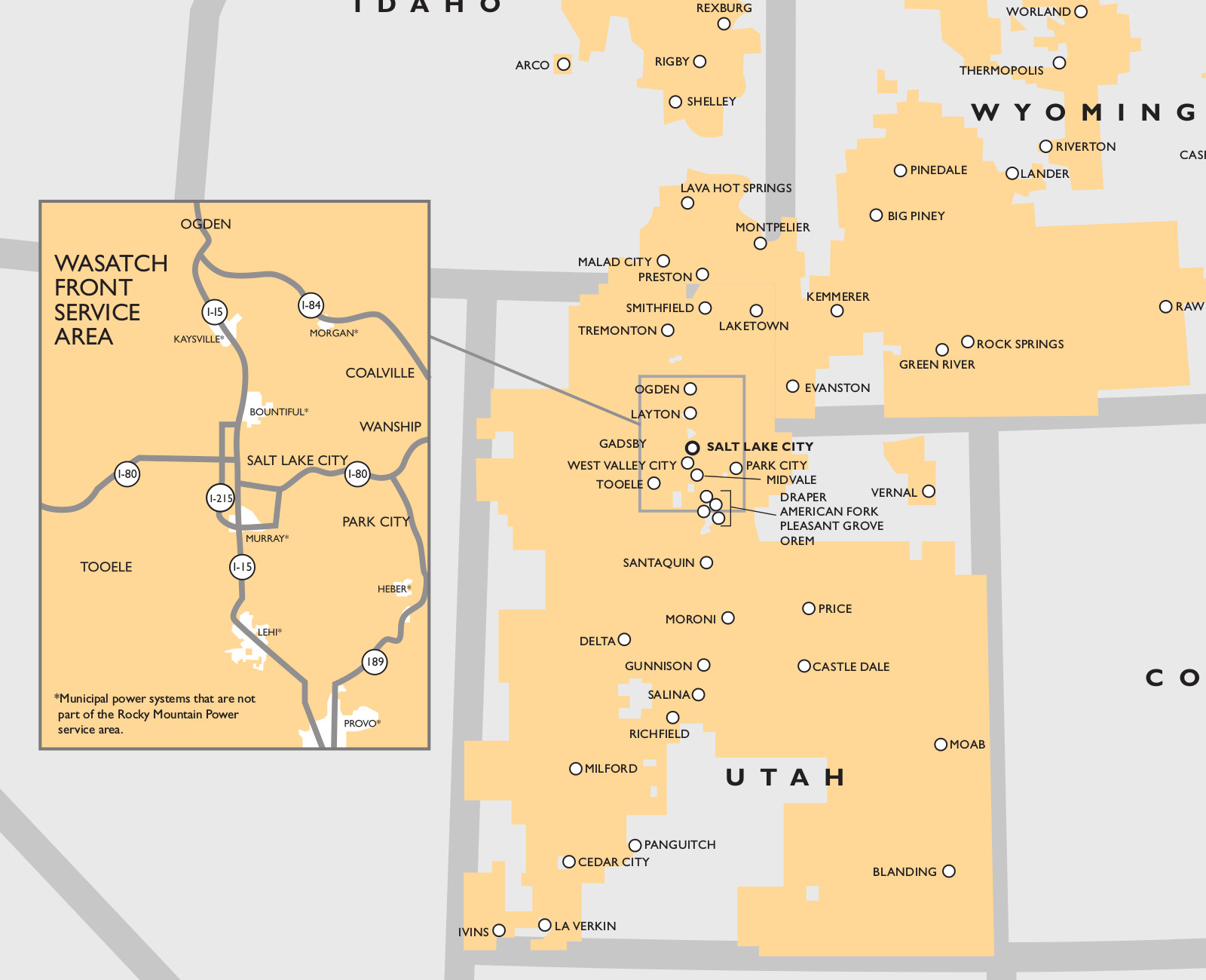 Rocky Mountain Power's Utah service area | Image courtesy of Rocky Mountain Power, St. George News
