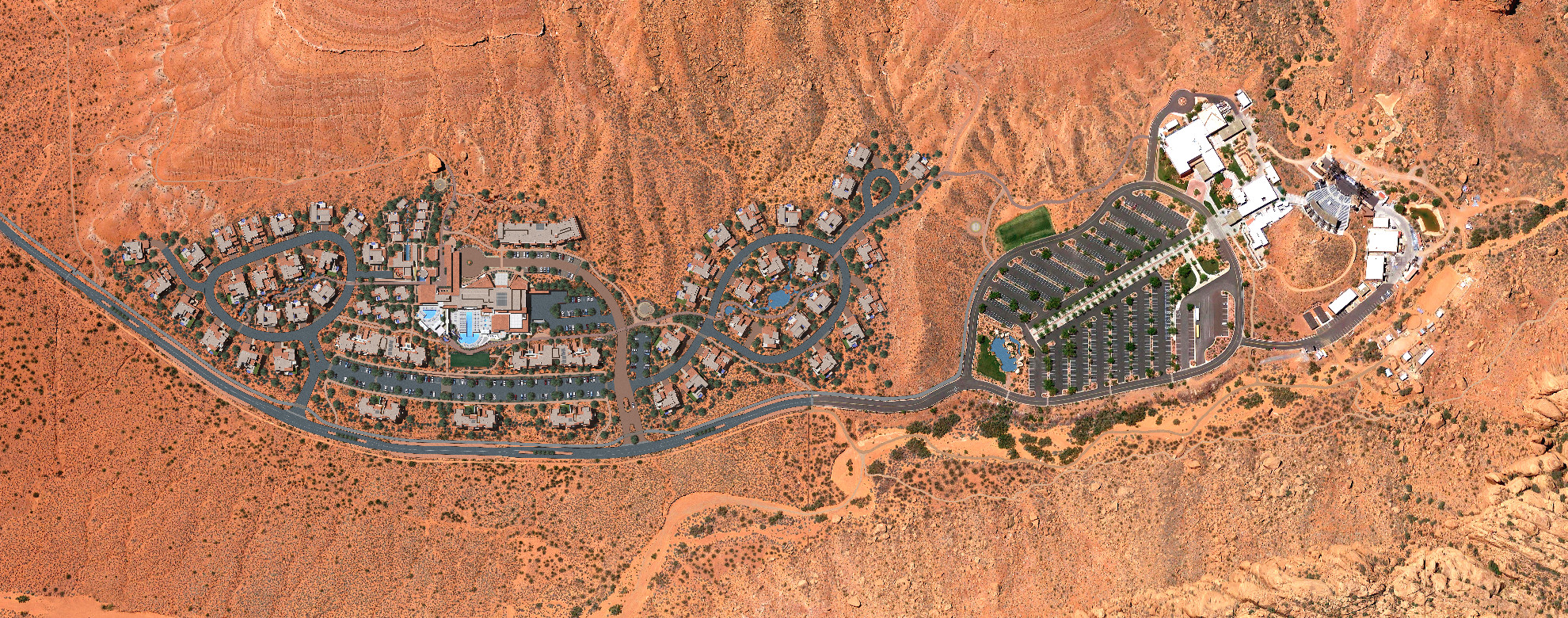 The proposed road privatization would run from Tuacahn to the end of the Sentierre development on Tuacahn Drive | Image courtesy of Sentierre Resort, St. George News