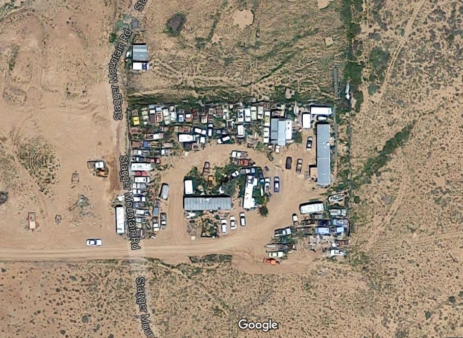 A screenshot of a map showing a property on North Stagger Mountain Road on the Arizona Strip where a search warrant was executed resulting in the arrest of five suspects who officials said have been supplying heroin and methamphetamine to residents along the rural areas on the Utah-Arizona border | Image courtesy of Google maps, St. George News