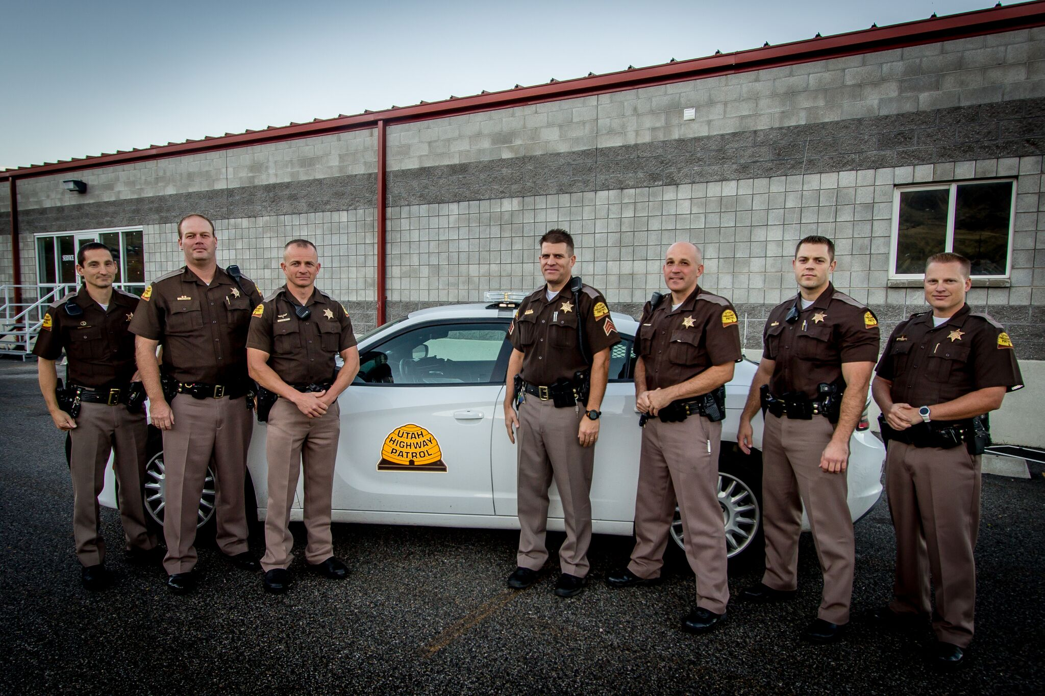 Trooper Eric Ellsworth (second from right) was a seven year veteran of the UHP, photo location and date unspecified | Photo courtesy of Utah Highway Patrol, St. George News