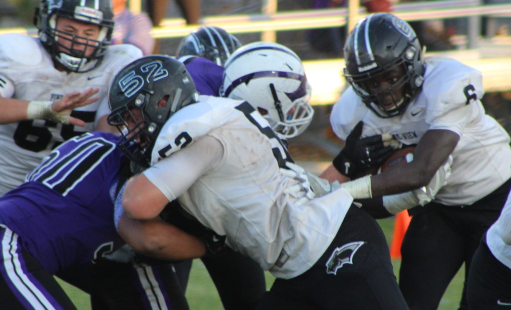 PV's Tyler Heaton (52) and Jacob Mpungi (6), Pine View at Tooele, Tooele, Utah, Nov. 4, 2016 | Photo by AJ Griffin, St. George News