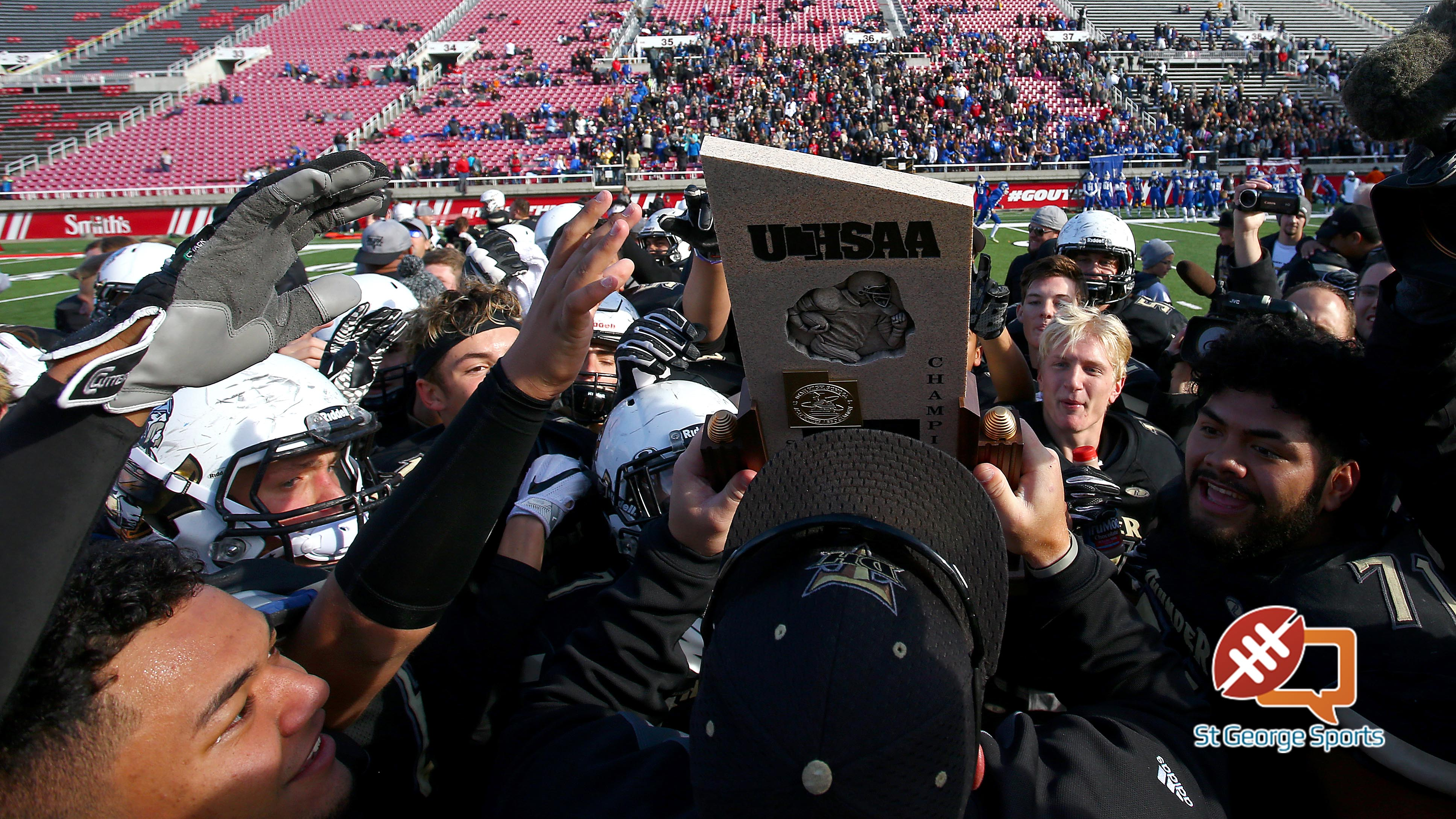 Desert Hills wins the 3AA state championship, Desert Hills vs. Pine View, 3AA State Championship, Football, Salt Lake City, Utah, Nov. 18, 2016, | Photo by Robert Hoppie, ASPpix.com, St. George News